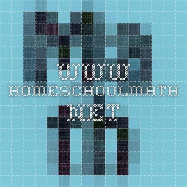www.homeschoolmath.net | homeschool - kaylee | Pinterest