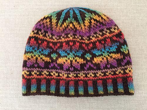 Faux Fair Isle Hat pattern by Chiaki Hayashi | Fair isles, Yarns ...