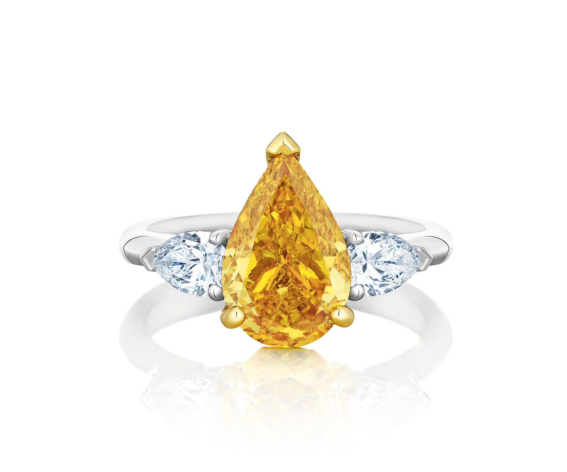 Solitaire ring with pear shoulders rings pinterest solitaire