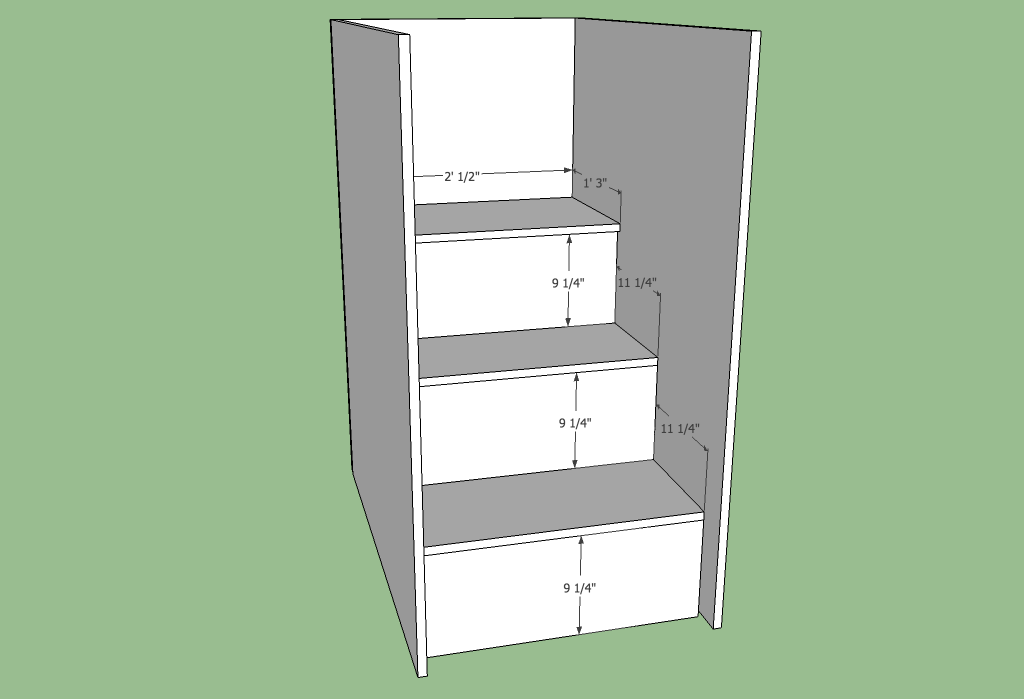 Loft bed stairs plans Nov 25 2014 Storage stairs for a ...