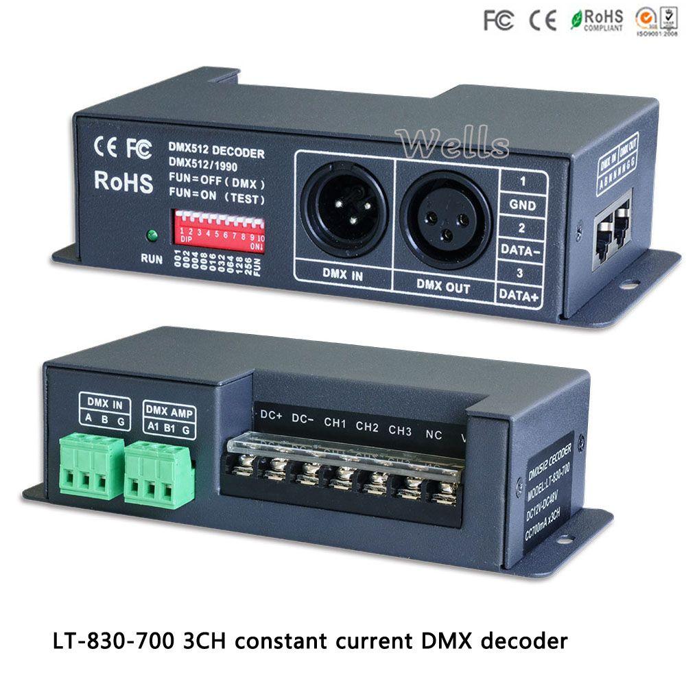 Ltech Led Rgb Controller Lt 830 700 Dmx Pwm 3ch Cc Decoder Dc12v Dc48v Input 700ma Cc 3ch Output For Led Strip Light Accessories Lights Led