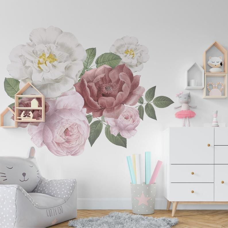 Peel And Stick Wall Decals Peony Wall Decal Peony Flowers Wall