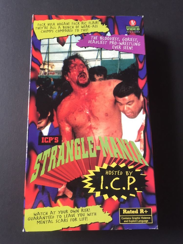 icp stranglemania vhs insane clown posse ecw wcw wwf