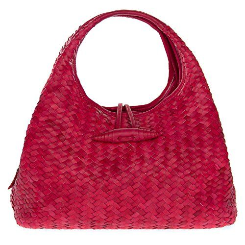 Paolo Masi Italian Made Red Hand Woven Leather Purse Handbag