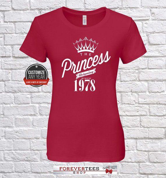 Princess 1978 41st Birthday Gifts For Women Gift Tshir