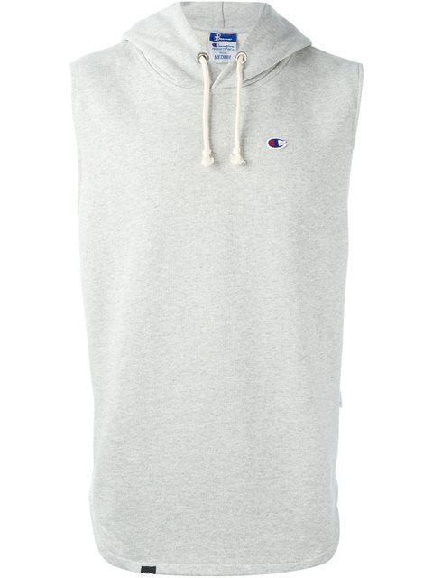 Grey Champion Hooded Sleeveless Sweatshirt