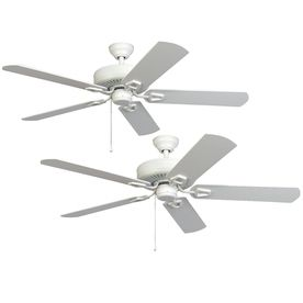 Harbor Breeze 52 Builder Series Hanover White Ceiling Fans At Lowe S Canada Find Our Selection Of The Lowest Price Guaranteed With