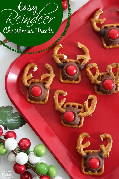 Awesome Christmas Snack Ideas For School Parties Part - 6: Here Is An FUN Holiday Recipe For Easy Reindeer Christmas Treats! Love This  Holiday Snack Recipe For School Parties And As An Easy Gift Idea For  Teachers!
