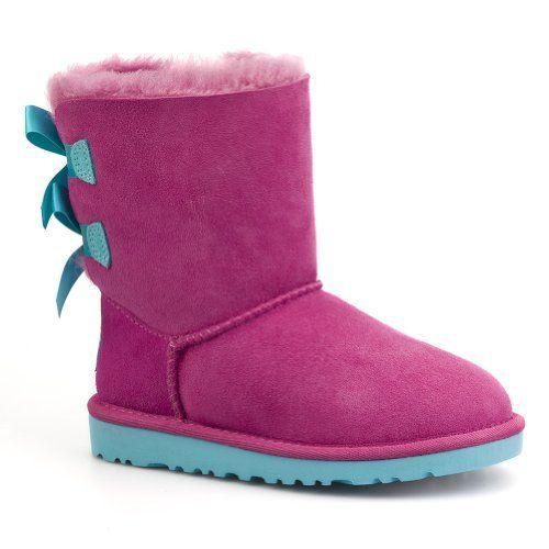 c07967d2d52 UGG Australia Girl's Bailey Bow Boot, Princess Pink/Blue Curacao ...