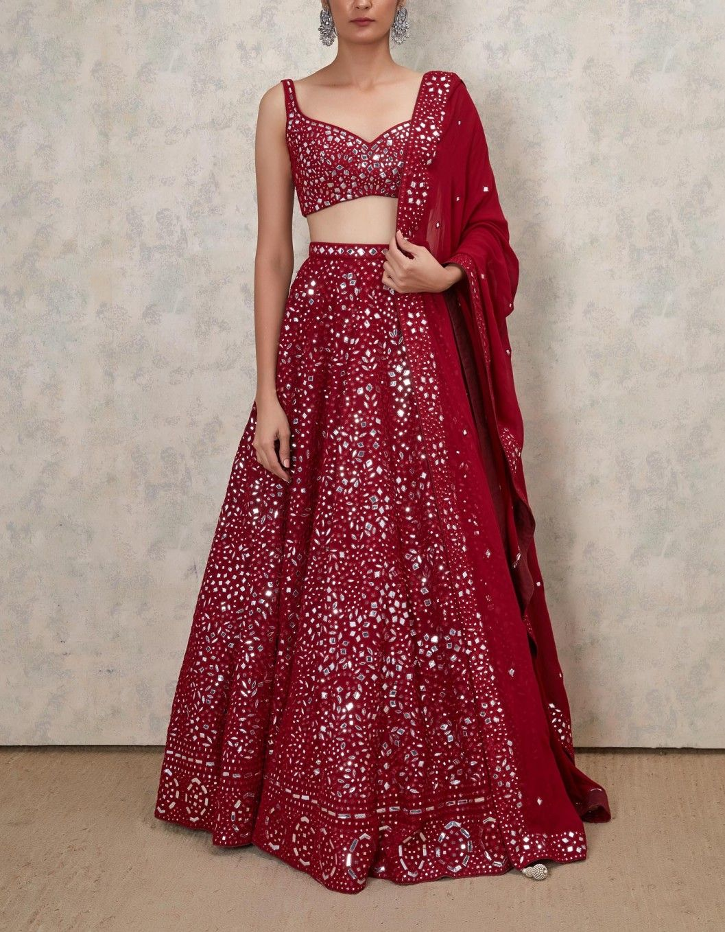 Shop Latest Mirror Work Lehengas From These Design