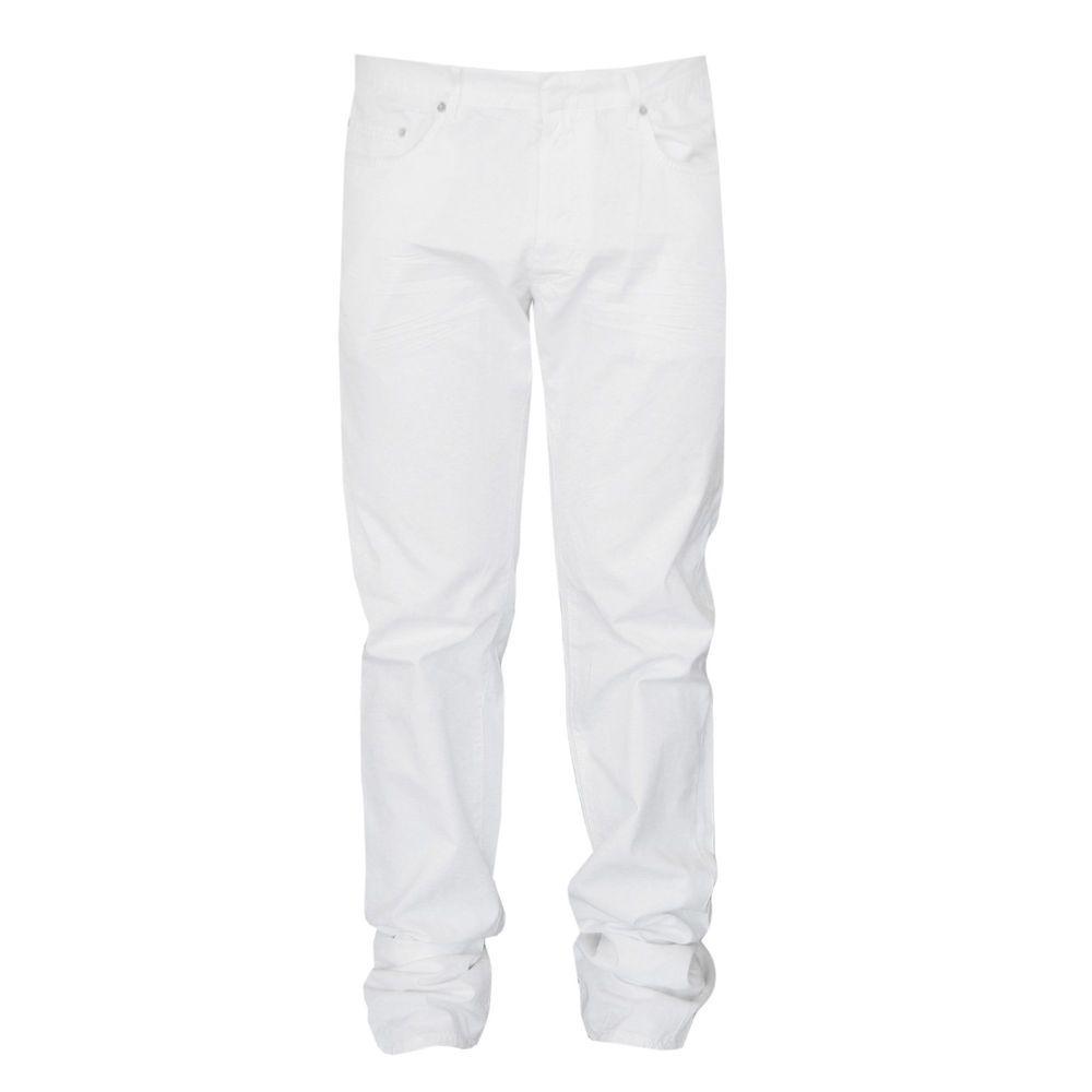 DIOR HOMME Kris Van Assche white light-weight cotton slim straight jean pants 36 #DiorHomme #CasualPants