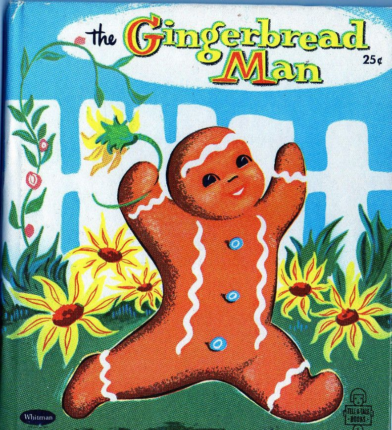 Vtg Illustrated Childrens Book THE GINGERBREAD MAN Whitman Tell A Tale VERY NICE #Whitman