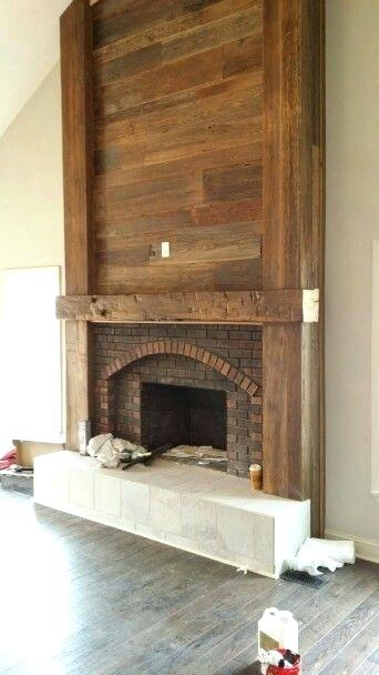 Brick Fireplace Makeover 9 Mantle