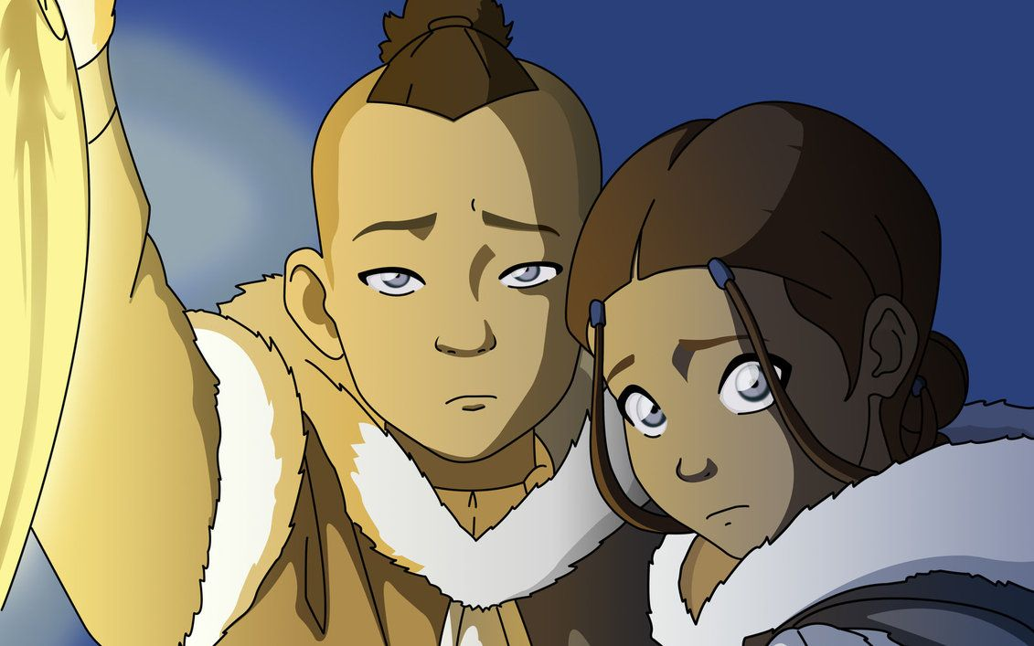 Brother and Sister Sokka and Katara | Anime films, Aang