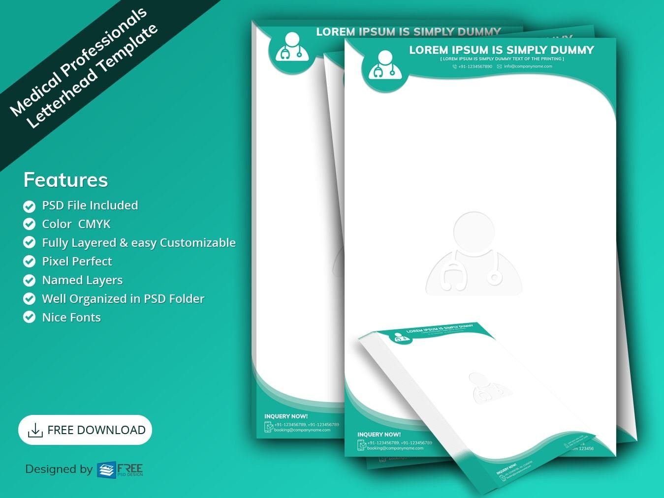 Quickly create beautifully designed letterheads that … Medical Professionals Letterhead Template Free Psd Design Download All Photosho Professional Letterhead Template Letterhead Template Professional Letterhead