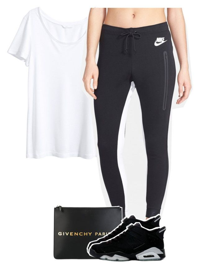 """""""Untitled #708"""" by palemermaid ❤ liked on Polyvore featuring H&M, NIKE and Givenchy"""