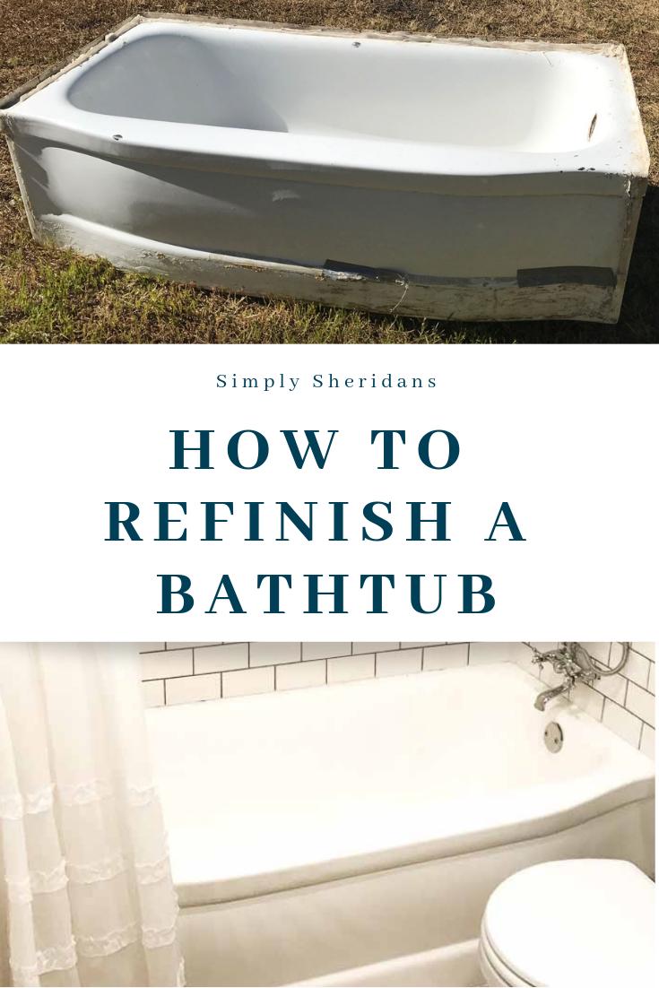 How To Refinish A Bathtub Refinishing An Old Tub Tub