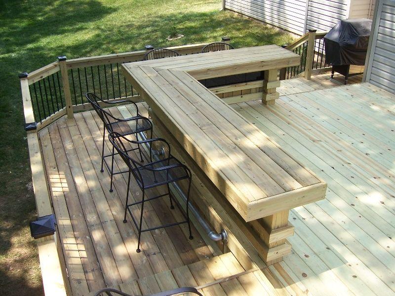 Patio Deck Bar Designs: Cedar Decks, Wood Decks, Gazebos, Screen Porches, Sun