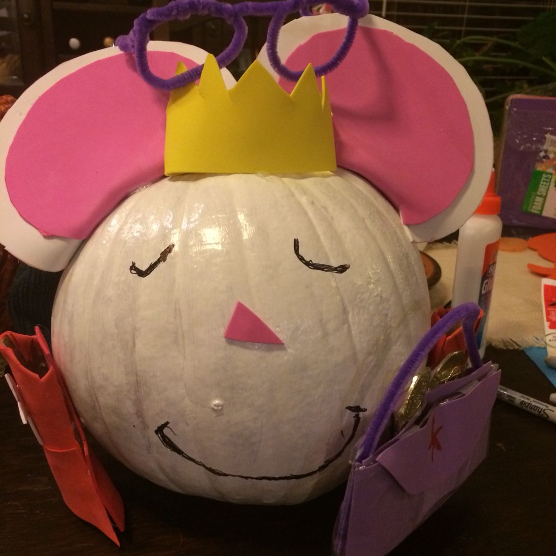 Lilly S Purple Plastic Purse Painted Pumpkin