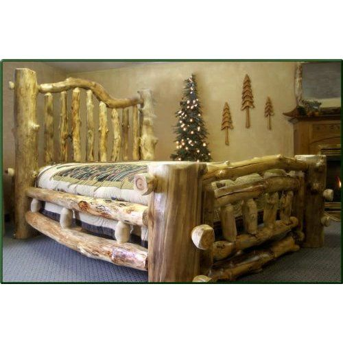 California King Size Majestic Aspen Log Bed List Price: $5,255.89