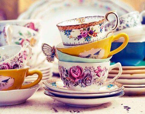 Teatime Tasse De The Tasse Cafe Nature Morte