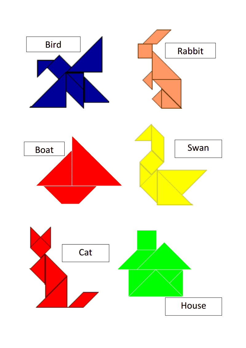 photo regarding Tangrams Printable Pdf titled tangram templates.pdf math Tangram puzzles, Math game titles