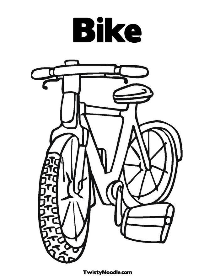 Awesome Big Bike Biycle Coloring Page Coloring Pages My Little