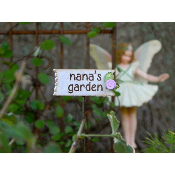 Fairy Garden Sign Nana\u0027s Garden Accessories for Miniature Garden