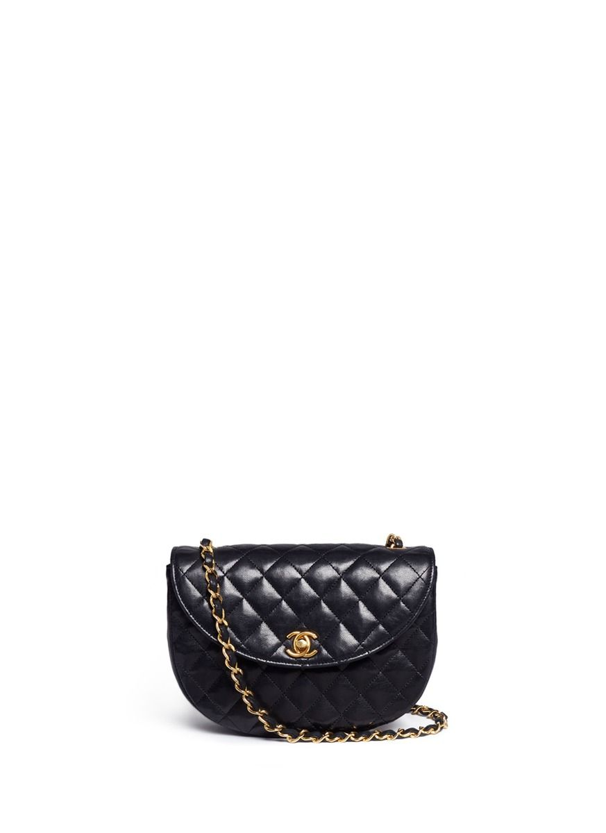 e0b05bdccd8b Vintage Chanel   Quilted leather half moon flap bag   QUILTED ...