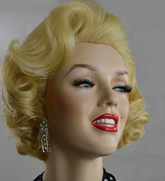 Custom Styled Marilyn Monroe Lace Front Blonde Wig 50 s Glamour OOAK ... 4528d9552c7b