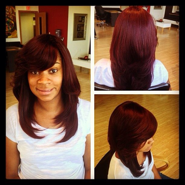 Full sew in with burgundy hair last 2 3 months book via www full sew in with burgundy hair last 2 3 months book via www pmusecretfo Images