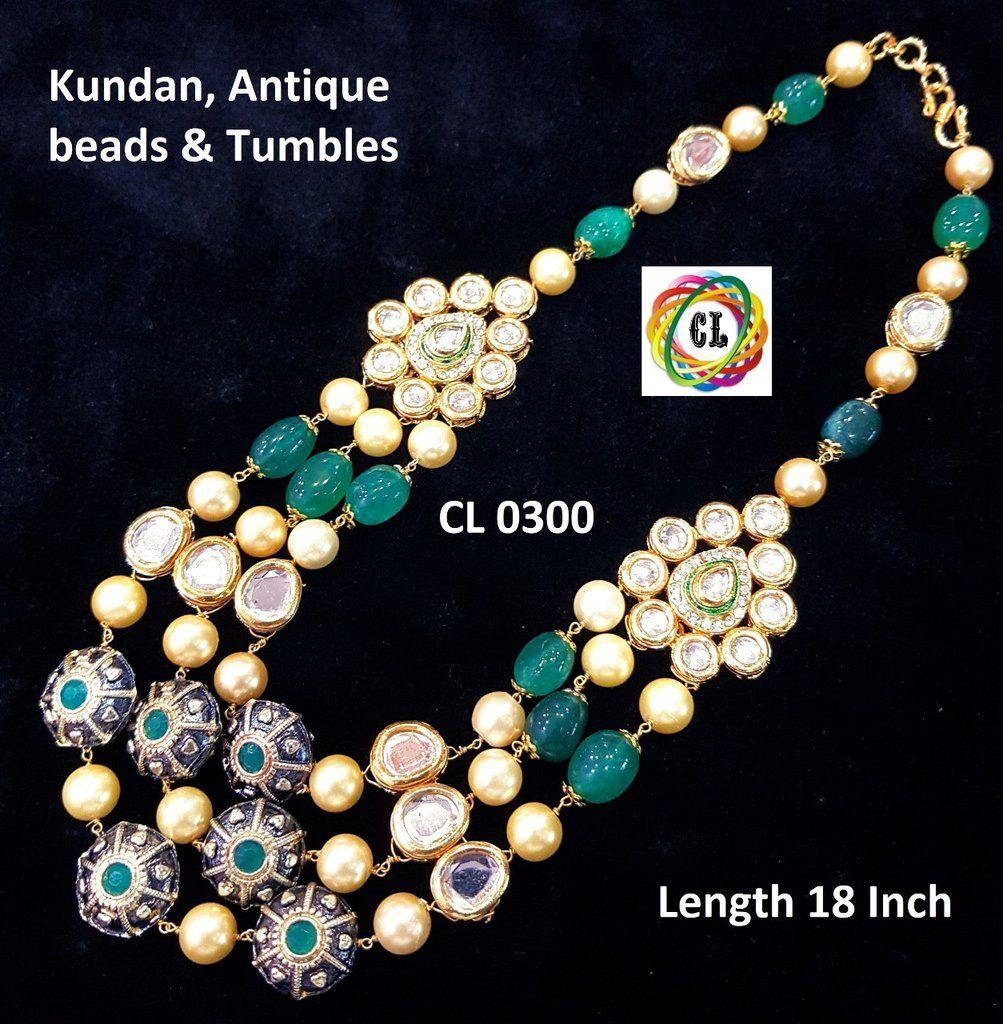 Unique kundan necklace set designer indian clothing pinterest
