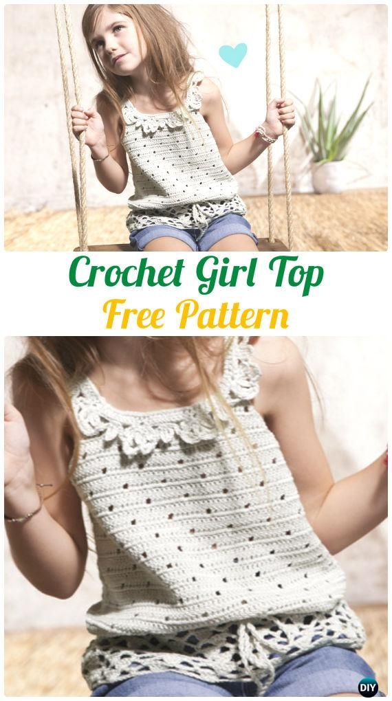 Crochet Girl Top Free Pattern - Crochet Kids Sweater Tops Free ...