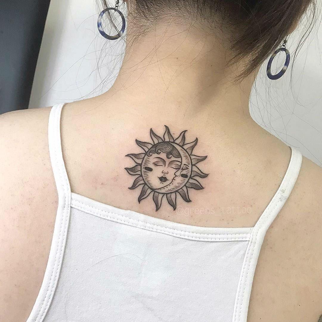 25 Sun And Moon Tattoo Design Ideas Moon Tattoo Tattoos Moon Tattoo Designs