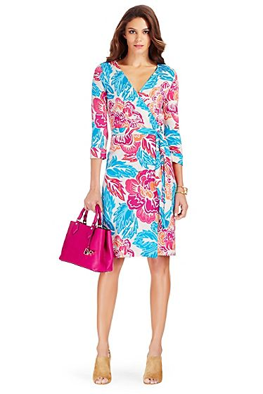 New Julian Two Silk Jersey Wrap Dress In Giant Floral Multi ...