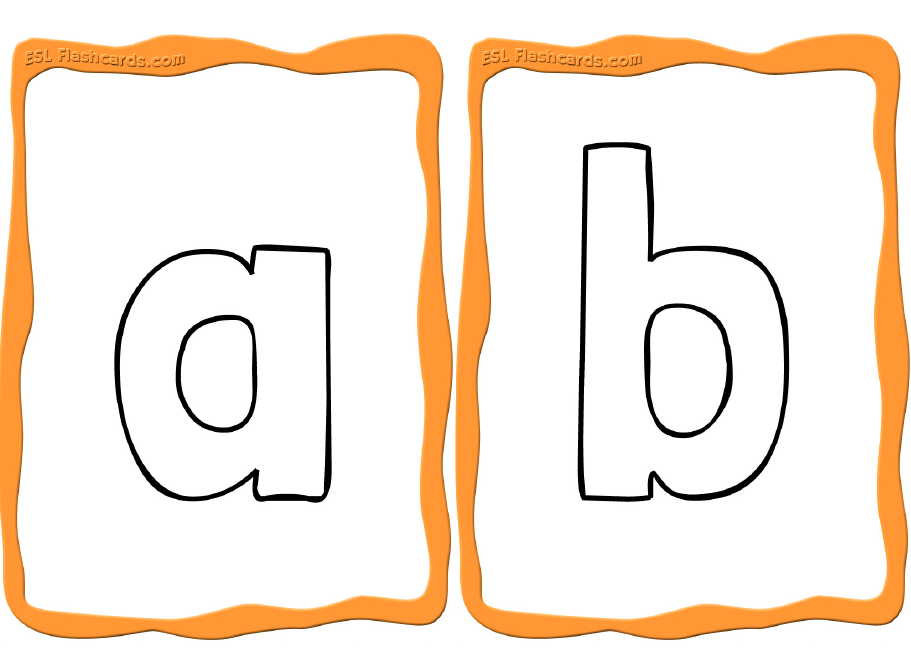 Sample Alphabet Coloring Cards Alphabet Flashcards Printable Flash Cards Flashcards