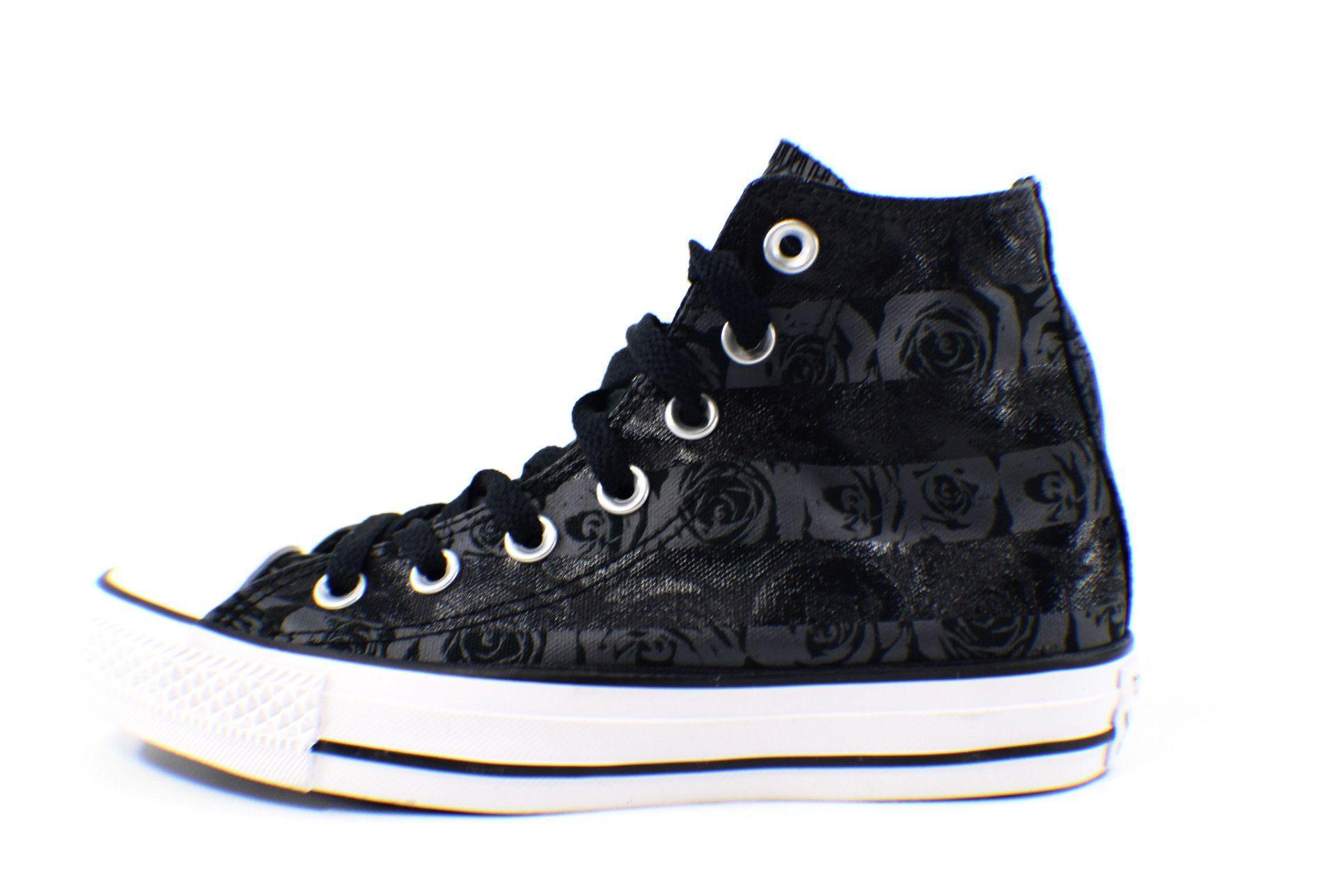 zapatillas converse negras caña alta