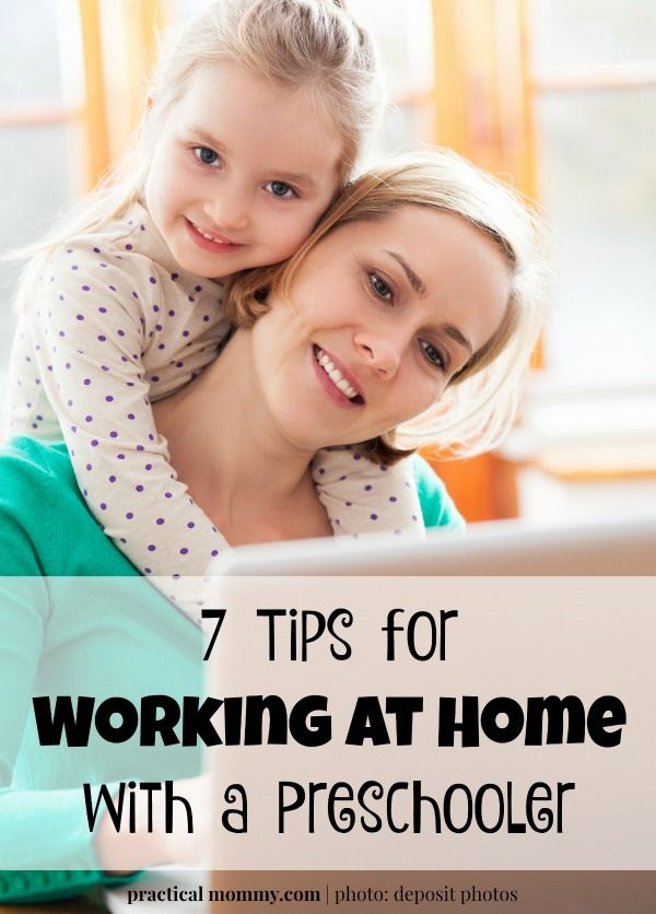 7 Tips for Working at Home with a Preschooler - Some would think that working at…