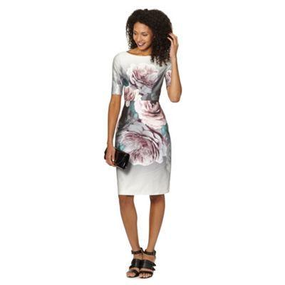 Betty Jackson Black Designer Grey Bloom Fl Dress At Debenhams