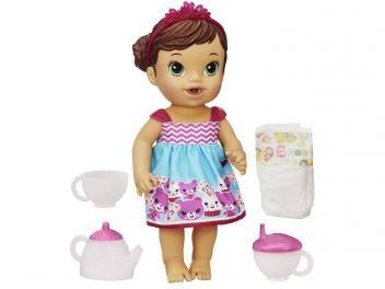 274b64a4c2 Boneca Baby Alive Hora do Chá Hasbro - Morena