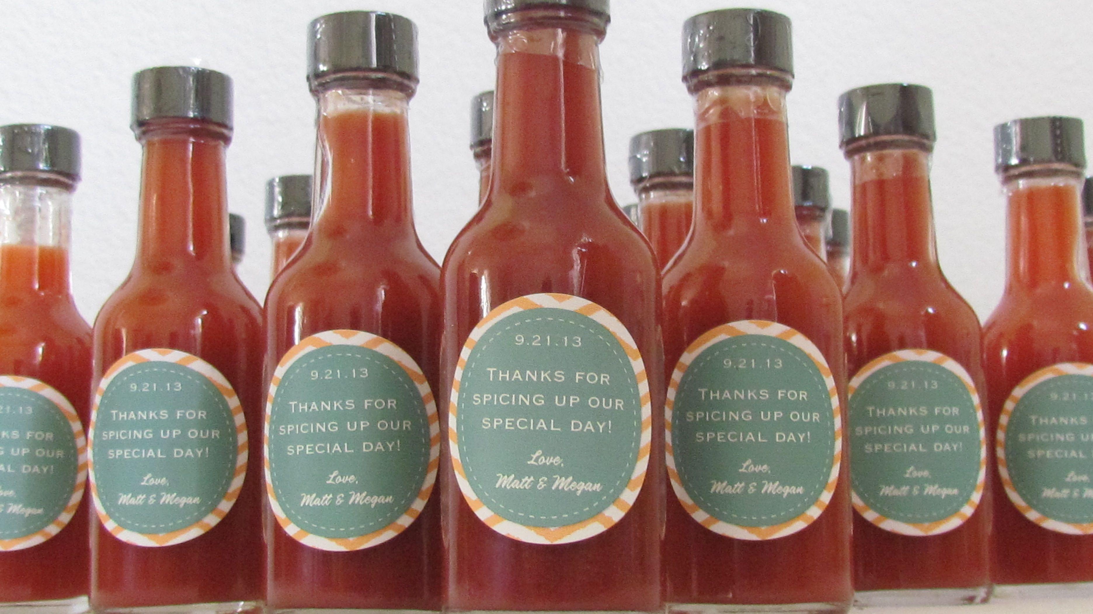 Hot Sauce wedding favors ~ DaSweetZpot   Lovey Dovey   Pinterest ...