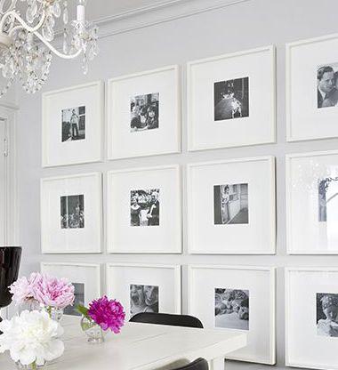 Disponer cuadros iguales en una pared buscar con google - Como decorar una pared con cuadros ...