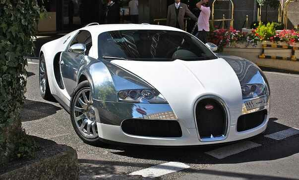 Chrome & White Bugatti~