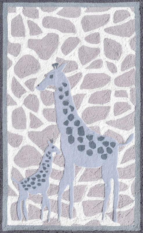 Mommy And Me Giraffe Rug Tufted