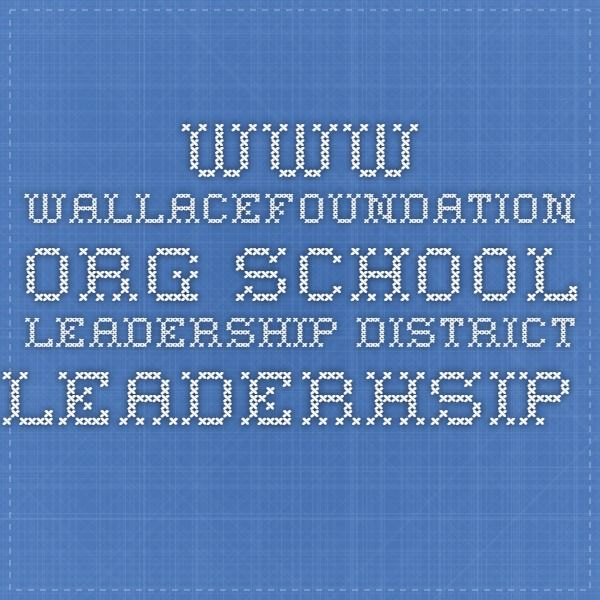 www.wallacefoundation.org School Leadership District Leaderhsip