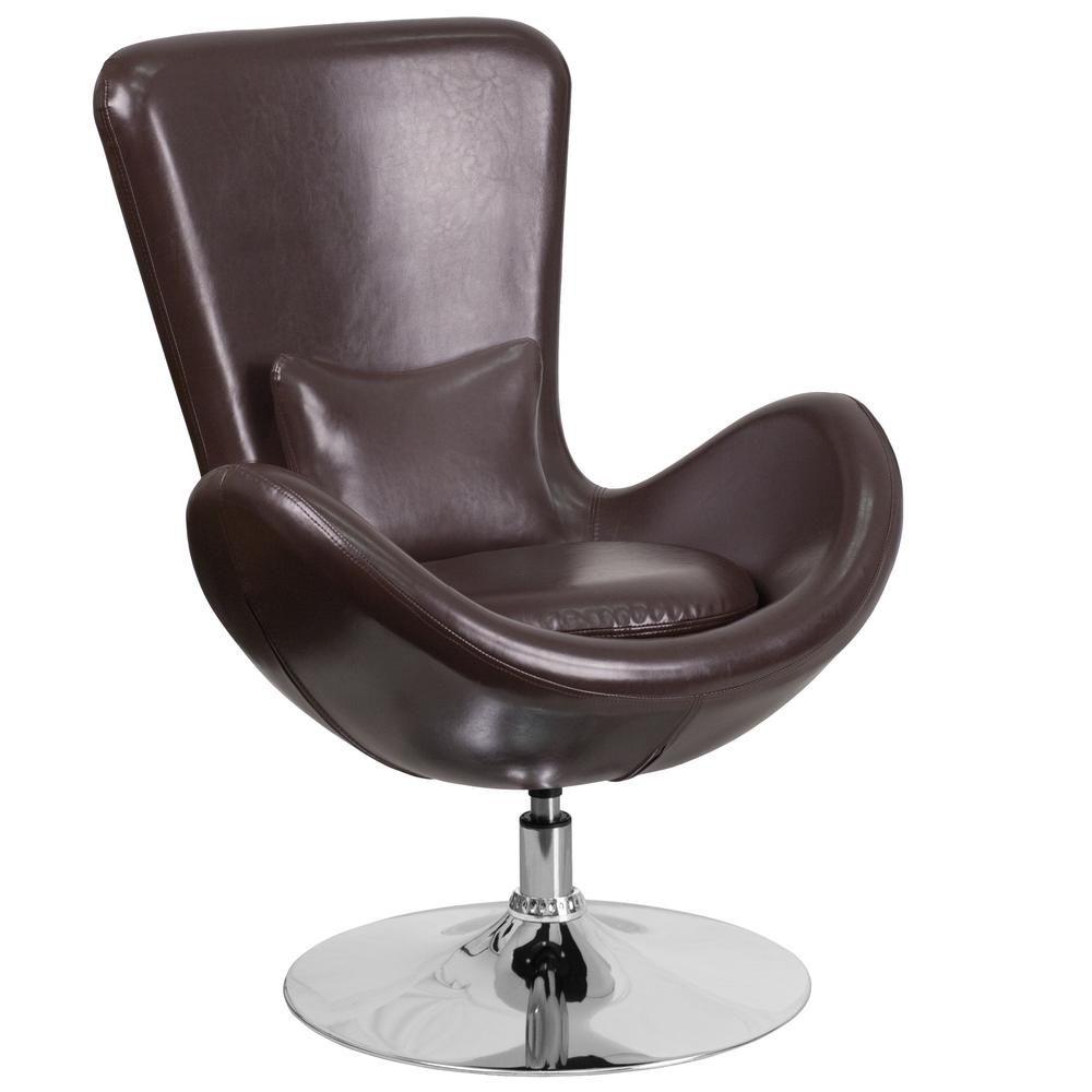 Ei Stuhl Ohne Stativ Navy Blau Leder Chair Arne Jacobsen Egg Chair