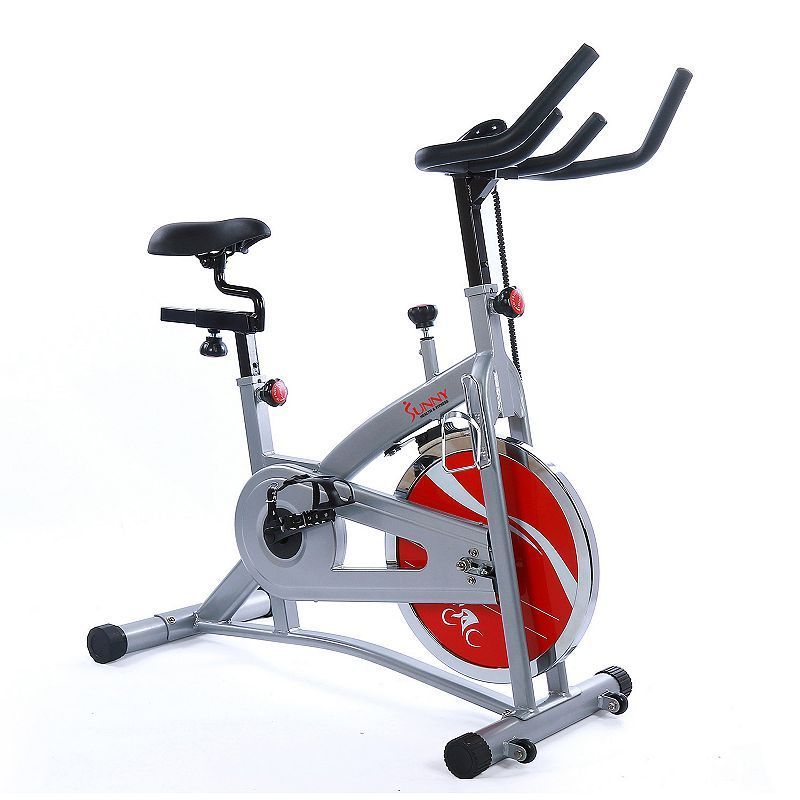Sunny Health Fitness Upright Exercise Bike Grey Upright