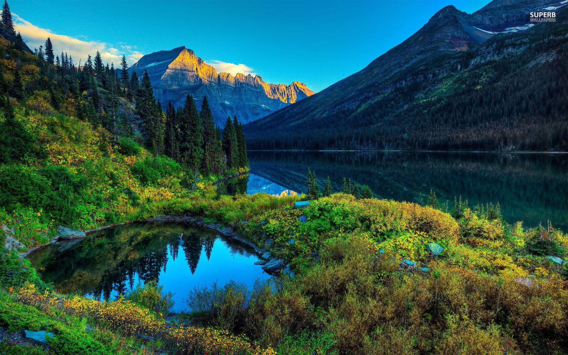 Mountain Lake Wallpaper Scenery Wallpaper Landscape Wallpaper Scenery