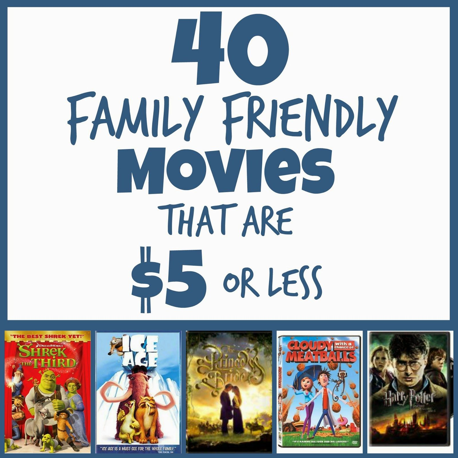 The perfect Stocking Stuffers! These 40 Family Friendly Movies bring back so many memories!