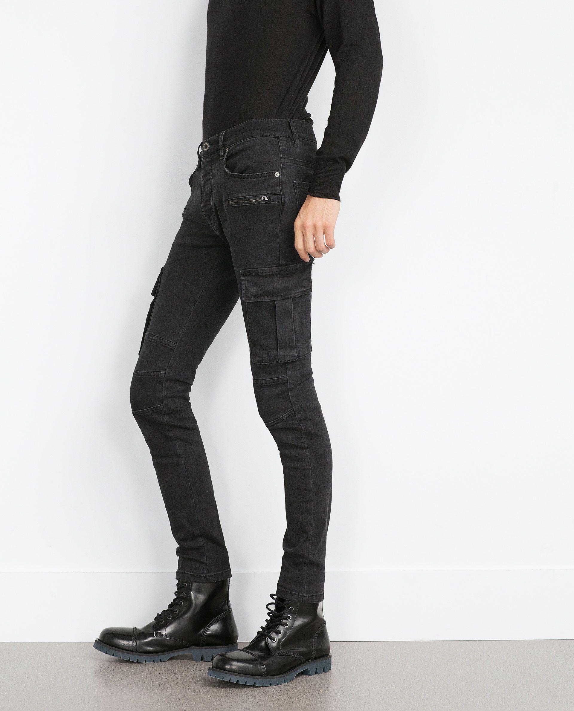 2e0e6b22 ZARA - MAN - CARGO JEANS   FASHION   Cargo jeans, Jeans, Cargo pants